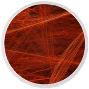 Dancing Flames 1 H - Panorama - Abstract - Fractal Art Round Beach Towel