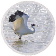 Dancing For My Lady Round Beach Towel