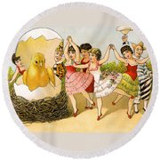 Dancing Girls Round Beach Towel
