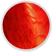 Dancing In The Fire Abstract Round Beach Towel