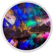Dancing In The Moon Light Round Beach Towel