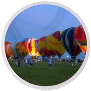 Dancing In The Moonlight Hot Air Balloons Round Beach Towel