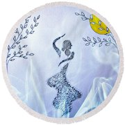 Dancing In The Moonlight Round Beach Towel