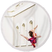 Dancing In The Streets Round Beach Towel