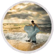 Dancing In The Surf Round Beach Towel