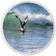 Dancing On The Waves Round Beach Towel