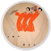 Dancing Song Round Beach Towel