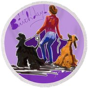 Dancing Round Beach Towel
