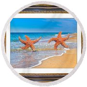 Dancing To The Beat Of The Sea Round Beach Towel