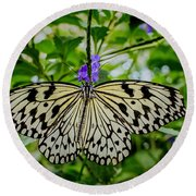 Dancing With Butterflies Round Beach Towel