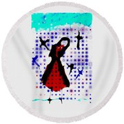 Dancing With The Birds Round Beach Towel