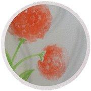 Dandelion Garden  Round Beach Towel