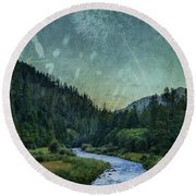 Dandelion Moon Round Beach Towel