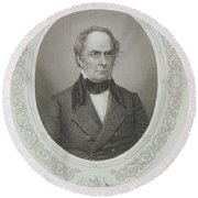 Daniel Webster, From The History Of The United States, Vol. II, By Charles Mackay, Engraved By T Round Beach Towel