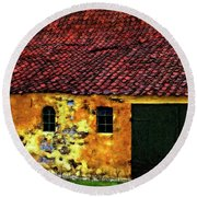 Danish Barn Impasto Version Round Beach Towel by Steve Harrington