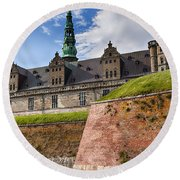 Danish Castle Kronborg Round Beach Towel