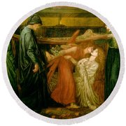 Dantes Dream At The Time Of The Death Of Beatrice 1856 Round Beach Towel