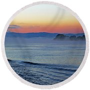 Danube Dawn Round Beach Towel