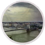Danube River Round Beach Towel
