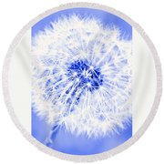 Dandy Blue Round Beach Towel