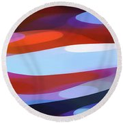 Dappled Light Panoramic 3 Round Beach Towel