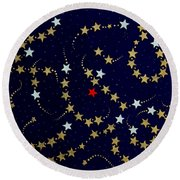 Dare To Be Different - Stars - Blazing Trails Round Beach Towel
