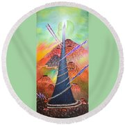 Dare To Grow Round Beach Towel