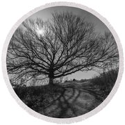 Dark And Twisted Round Beach Towel