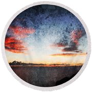 Dark Angel Round Beach Towel by Stelios Kleanthous
