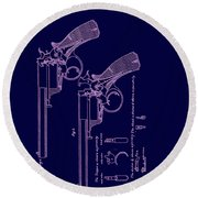 Dark Beaumont Revolver Patent Round Beach Towel