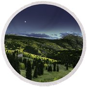 Dark Beauty Round Beach Towel