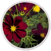 Dark Coreopsis' Round Beach Towel
