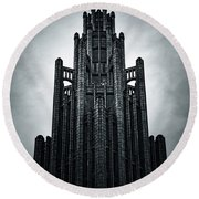 Dark Grandeur Round Beach Towel