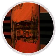 Dark Movement Round Beach Towel
