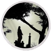 Dark Mysterious Light Round Beach Towel