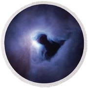 Dark Nebula Cloud  Round Beach Towel