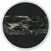 Dark Phase Timber Round Beach Towel