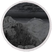 Dark Planet Round Beach Towel