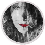 Dark Thoughts Round Beach Towel
