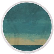 Dark Waters Round Beach Towel