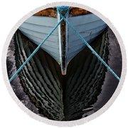Dark Waters Round Beach Towel by Stelios Kleanthous