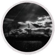 Darkest Before The Dawn Round Beach Towel