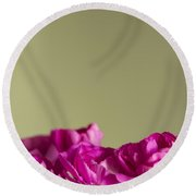 Darling Dianthus Round Beach Towel