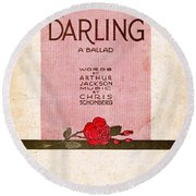 Darling Round Beach Towel