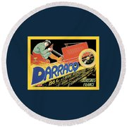 Darracq Suresnes France Round Beach Towel