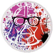 Darth Vader Corrective Lenses Round Beach Towel