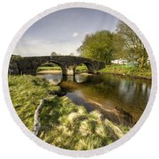 Dartmoor Bridge  Round Beach Towel