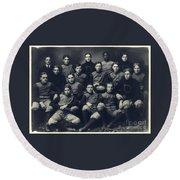Dartmouth Football Team 1901 Round Beach Towel by Edward Fielding