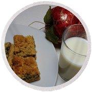 Date Squares - Snack - Dessert - Milk Round Beach Towel