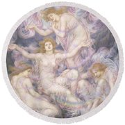 Daughters Of The Mist Round Beach Towel